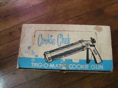 Vintage Cookie Chef Trig-O-Matic Cookie Gun Pastry Kitchen