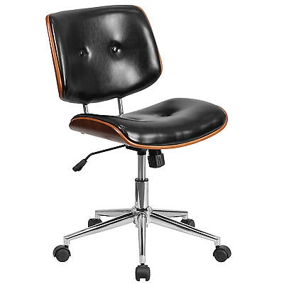 Mid-Back Leather Desk Chair Flash Furniture FREE SHIPPING (BRAND NEW)