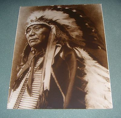 INDIAN CHIEF VINTAGE PHOTO NATIVE AMERICAN - 14 x 11