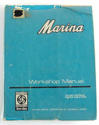 Morris Marina 1500/1750 all 1972 factory workshop manual