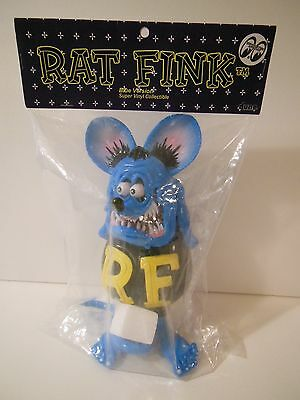 Dune Rat Fink Blue Version Soft Vinyl Collectible Figure Ed Roth Mooneyes