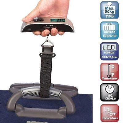 Electronic Luggage Digital Travel Scale Built-In Backlight Holds 110 lbs Easy