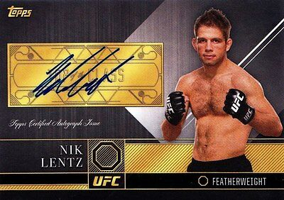 2016 Topps UFC Top Of The Class Autographs Insert - Nik Lentz (TCA-NL)
