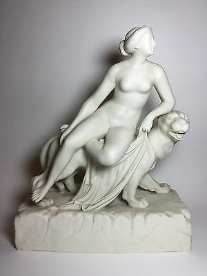 Minton Parian Ware Dannecker Ariadne Seated On Panther Sculpture 19C