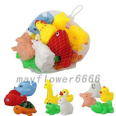 13 x Animal Child Baby Kids Bath Toy Rubber Float Squeeze Sound Wash Bath Gift