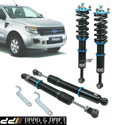 NEW DD 40 Step Monotube Coilover Shock Suspension For FORD Ranger T6 4WD 2012-ON