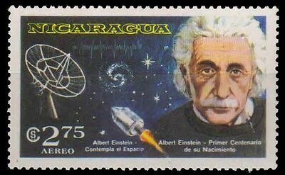 NICARAGUA 1980-Albert Einstein & Space Exploration, 1 Value, MNH-unissued Stamps