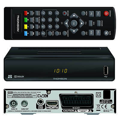 Digital Kabelreceiver Kabel TV Receiver DVB-C HDTV THOMSON THC300 USB HDMI SCART