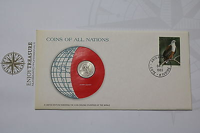Ivory Coast 50 Fr. 1982 Coins Of All Nations Cover Frank. Mint A61 #can73