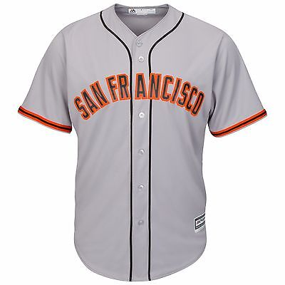 MLB Baseball Trikot SAN FRANCISCO GIANTS grau Road Cool base Majestic Jersey