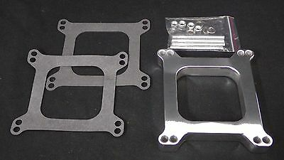 Carburetor Spacers 1 Inch Polished Aluminium Square Bore 1 Hole Holley-Afb