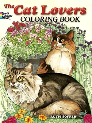 Coloring Books For Adult Cat Lover Art Design Stress Relaxing Therapy Painting