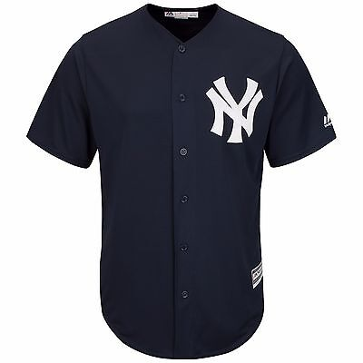 MLB Baseball Trikot NEW YORK NY Yankees blau Home navy Cool base Majestic Jersey