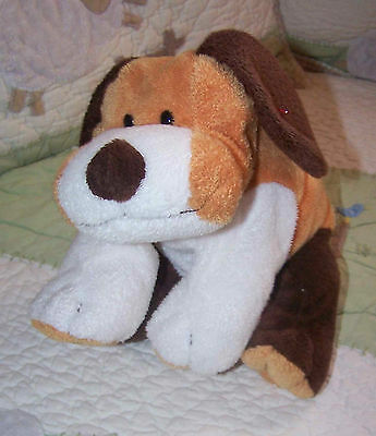 """Ty Pluffies Plush White Brown Butterscotch Whiffer Puppy Dog 2002 EUC 10"""""""