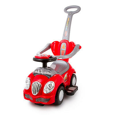 Walker Ride On Push Along Baby CAR Handle Interactive Steer Wheel KP0558W-RED