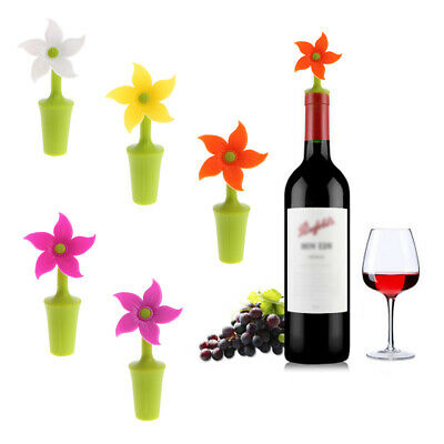 Cute Bauhinia Flower Shaped Silicone Vacuum Sealed Champagne Wine Bottle Stopper