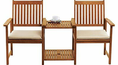Cream Garden Chair Seat Pad Cushions x 2 with ties  Outdoor