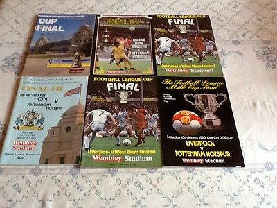 6 Cup Final Programmes From The 80s.