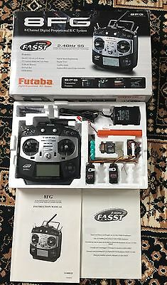 Futaba 8Fg  2.4 Ghz Fasst Transmitter In Superb Cond, Mode 2 With Manual.