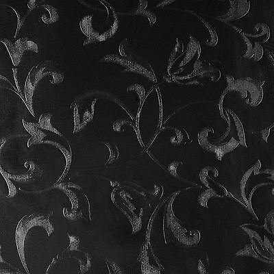 Black Pearl Trail Damask PVC Vinyl Oilcloth Wipeclean Tablecloth Multiple Sizes