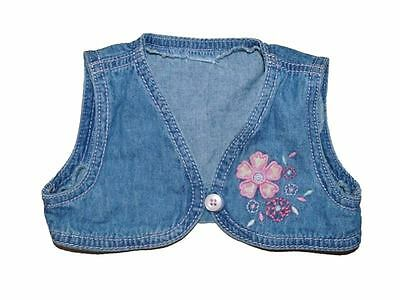 50 Infants Denim Waistcoat/shrug -Assorted Sizes - Wholesale Lot