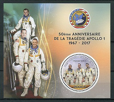 Benin 2017 MNH Apollo 1 Tragedy 50th Anniv 1v S/S Space Stamps