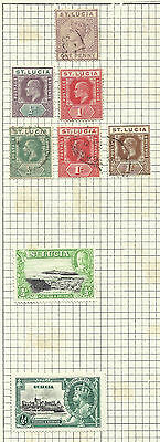 St Lucia - Older selection on 3 pages - Mint & Used