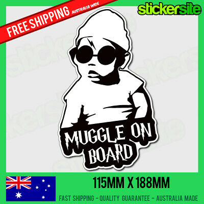 MUGGLE ON BOARD Sticker - HANGOVER Baby on Board Cool - HARRY POTTER STICKER