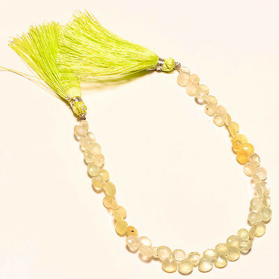 FACETED NATURAL PREHNITE BEADS 50 Ct.