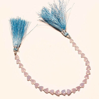FACETED NATURAL BLUE CHALCEDONY BEADS 32 Ct.