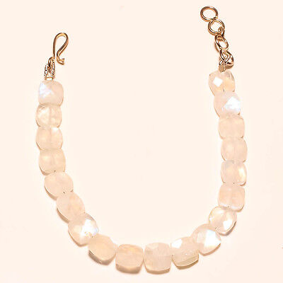 FACETED NATURAL WHITE RAINBOW BEADS 43 Ct.