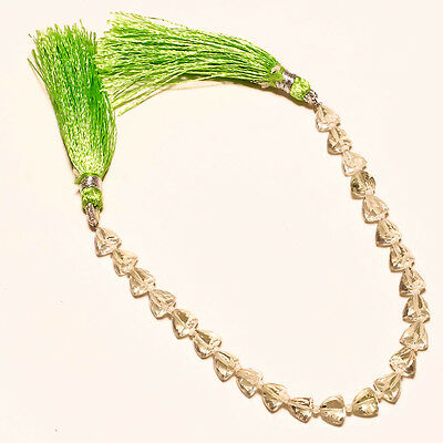 FACETED NATURAL GREEN AMETHYST BEADS 41 Ct.