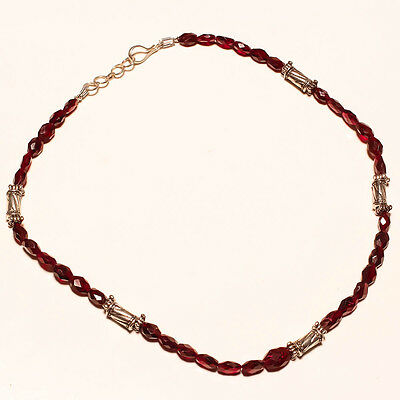 FACETED NATURAL GARNET NECKLACE BEADS 89 Ct.