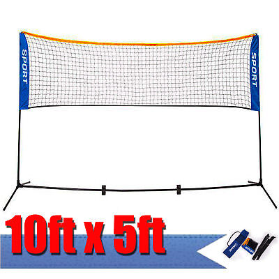 10'X5' Height Foldable Adujstable Badminton Net , Tennis Volleyball with Stand