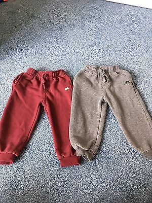 2x Tracksuit Bottoms/trousers. Boys 18-24 Months