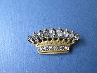 Antique/vintage crown with Rhinestone from brass /France