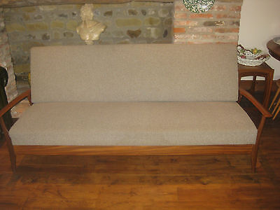 Mid Century Retro Teak Sofa Bed Settee Danish Design by FurPro Ltd (FP) Stunning