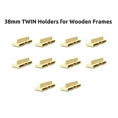 38mm Twin Plastic Bed Slat Holders / Caps for Wooden Bed Frames - Free Delivery