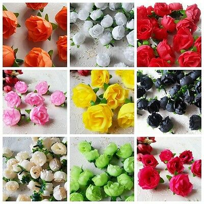10pcs Artificial Fake Silk Flowers Floral Garland DIY Wedding Home Decor