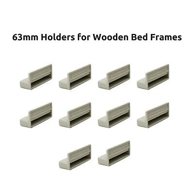63mm Single Bed Slat Holders / Caps for Wooden Bed Frames- Grey - Free Delivery