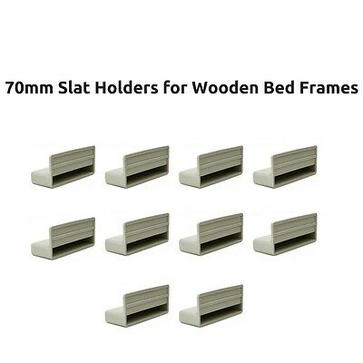 70mm Replacement Single Bed Slat Holders / Caps for Wooden Bed Frames Parts Grey