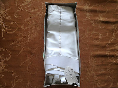 New in box 1 white Crown Crownette 424 open bottom girdle w/ garters sz 36 3x