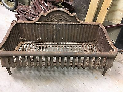 Large Antique Fire Grate Cast Iron