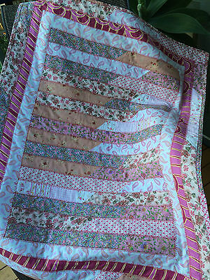 New Handmade Quilted Baby Blanket for pram, car or Home.