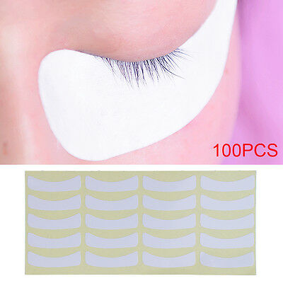 UK 100 Pairs of Eyelash Lash Extension Tinting Under Eye Lint Free Pads Patches