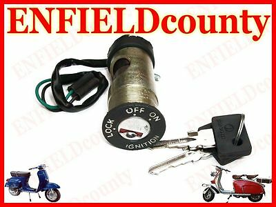 Brand New Vespa Complete Steering Lock With Tube & Ignition System Px Model @aud