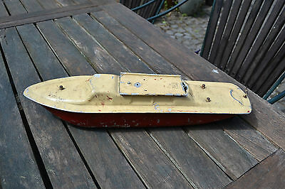 Vintage 1950s tinplate boat St Michael Harold Flory model battery operated