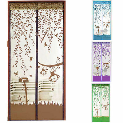 Hands-Free Home  Mesh Screen Net Magnetic Anti Mosquito Bug Door Curtain SY