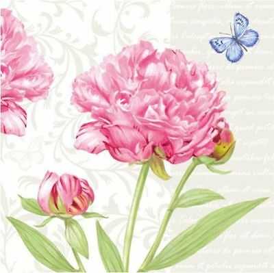 20 paper Napkins for Decoupage Crats or Collection Pretty flowers Peony #2520