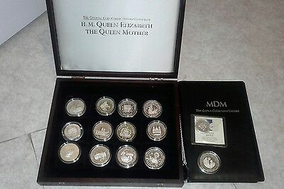 14 peice silver proof coin set includes 2 five pound coins